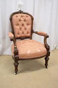 Victorian Walnut Armchair - Antiques Atlas
