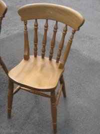 Antiques Atlas - A Set Of 6 Pine Kitchen Chairs