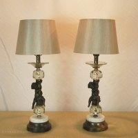 Antiques Atlas - Pair Of Cherub Lamps