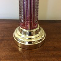 Antiques Atlas - Pair Of Cranberry Glass Table Lamps