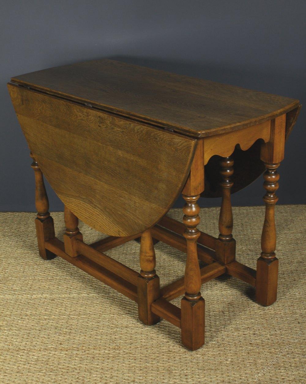 Oak Oval Drop Leaf Gateleg Table  Antiques Atlas