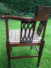 Edwardian Inlaid Corner Chair - Antiques Atlas
