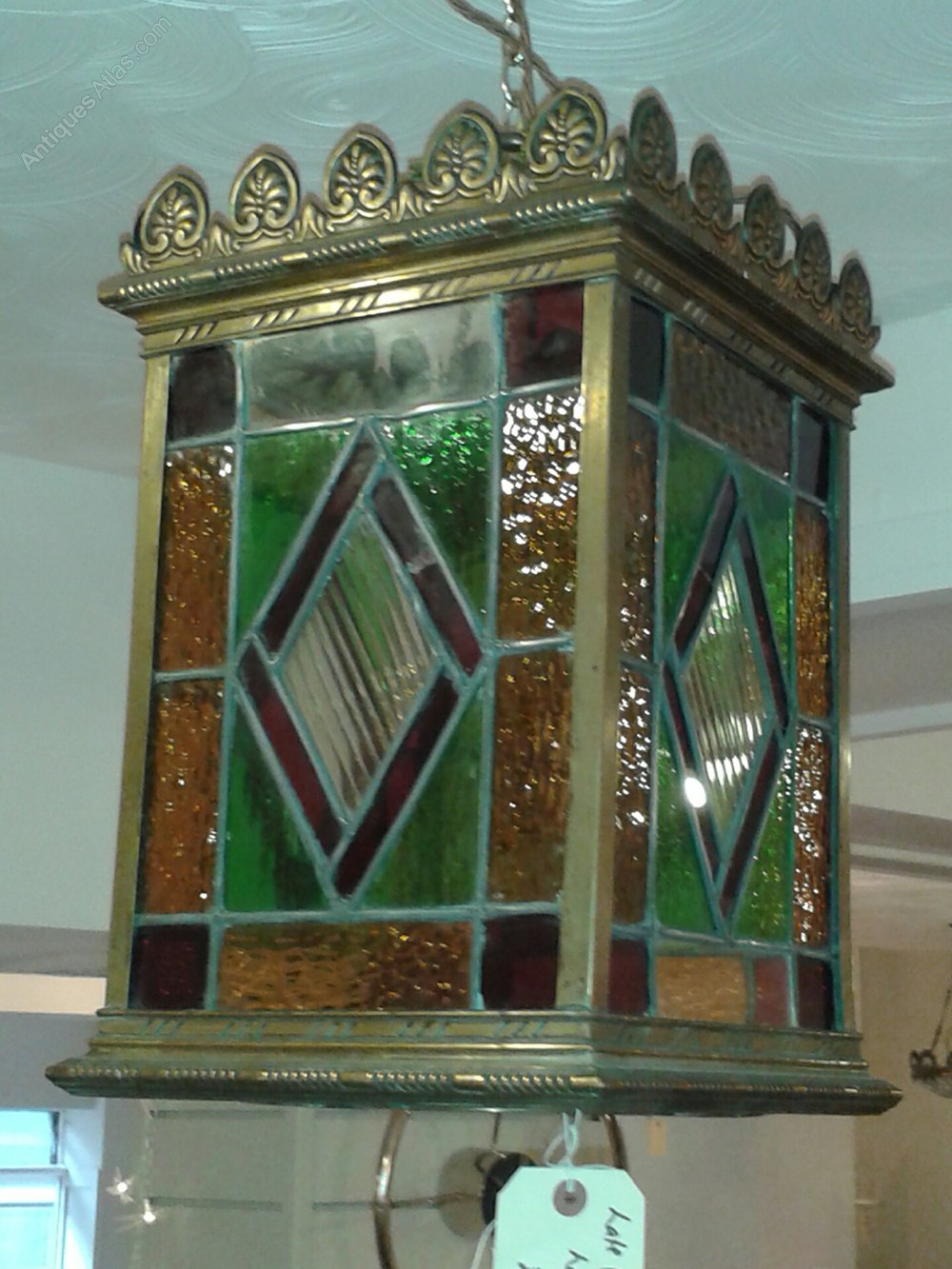 Antiques Atlas Large Stained Glass Victorian Lantern