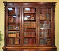 Antique Victorian Oak Library Bookcase - Antiques Atlas