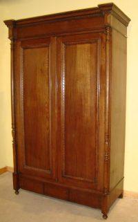 Large Antique French Provincial Oak Armoire