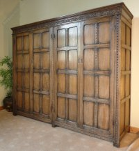 Late Victorian Jacobean Style Oak Wardrobe - Antiques Atlas