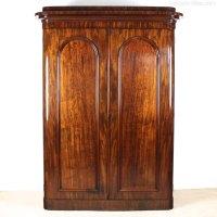 Victorian Mahogany Wardrobe By Wylie & Lochhead - Antiques ...