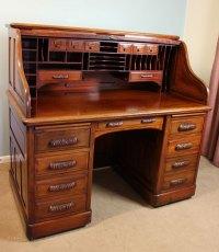 Antique Mahogany Roll Top Desk - Antiques Atlas