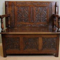 Z Chair For Sale Slipcovers Living Room Antique Oak Monks Bench, Settle, Hall - Antiques Atlas
