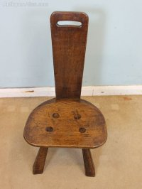 Antique Oak Spinning Chair - Antiques Atlas