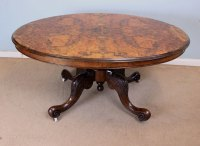 Antique Victorian Burr Walnut Coffee Table - Antiques Atlas