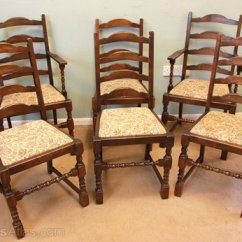 Vintage Oak Dining Chairs Yoga Ball Office Chair Reviews Antiques Atlas Set Six