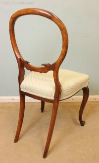 Victorian Walnut Single Chair Dressing Table Chair ...