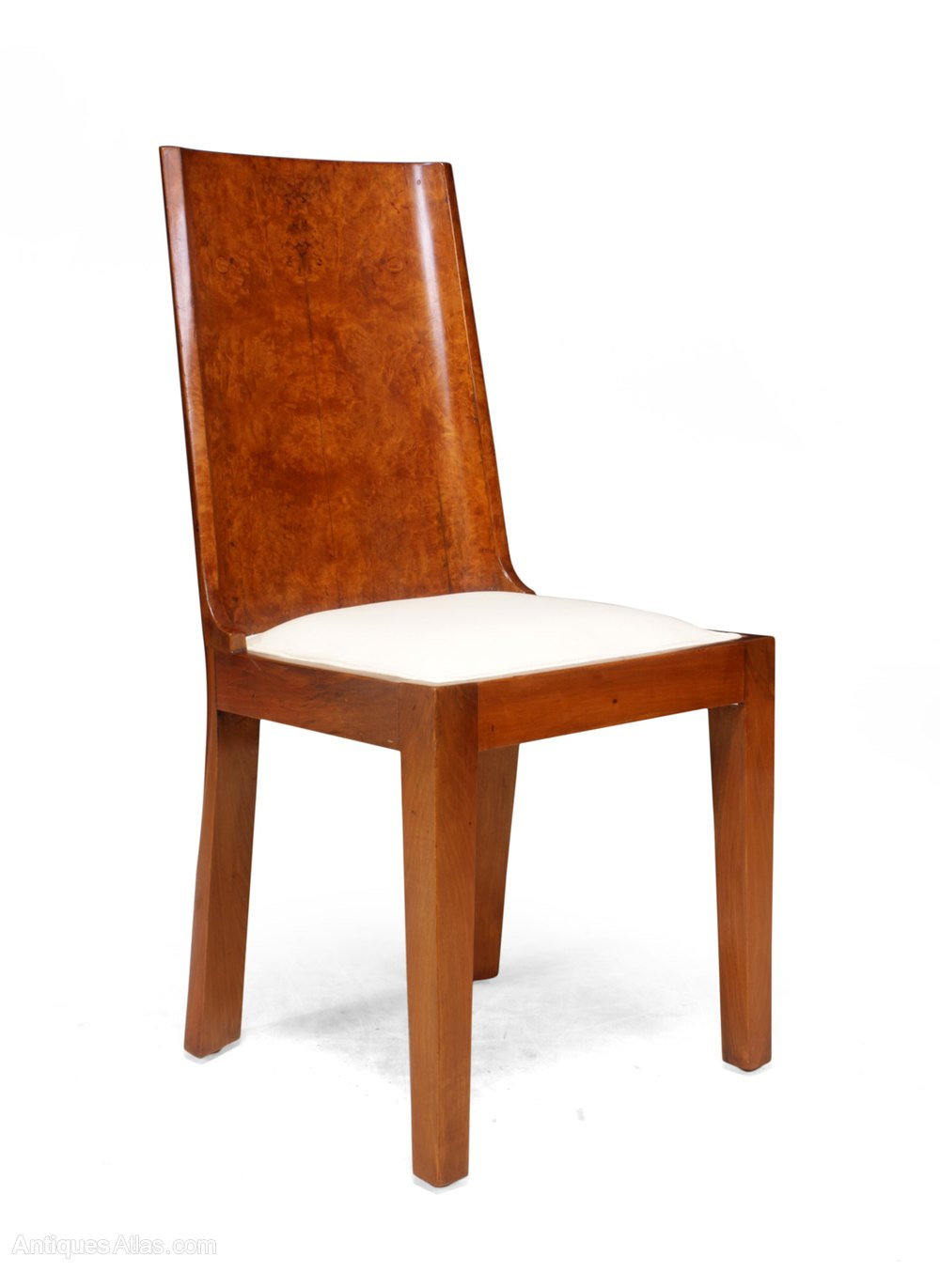 Art Deco Dining Chairs In Walnut Set Of 8  Antiques Atlas