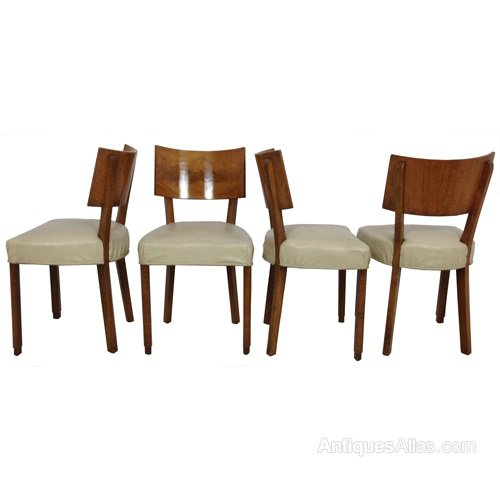 Art Deco Set Of Four Dining Chairs  Antiques Atlas