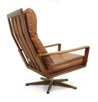Antiques Atlas - Danish Teak Swivel Chair C1960