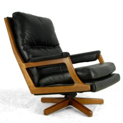 Revolving Lounge Chair Swivel Base Replacement Parts Uk Antiques Atlas - Mid Century Danish Teak And Leather