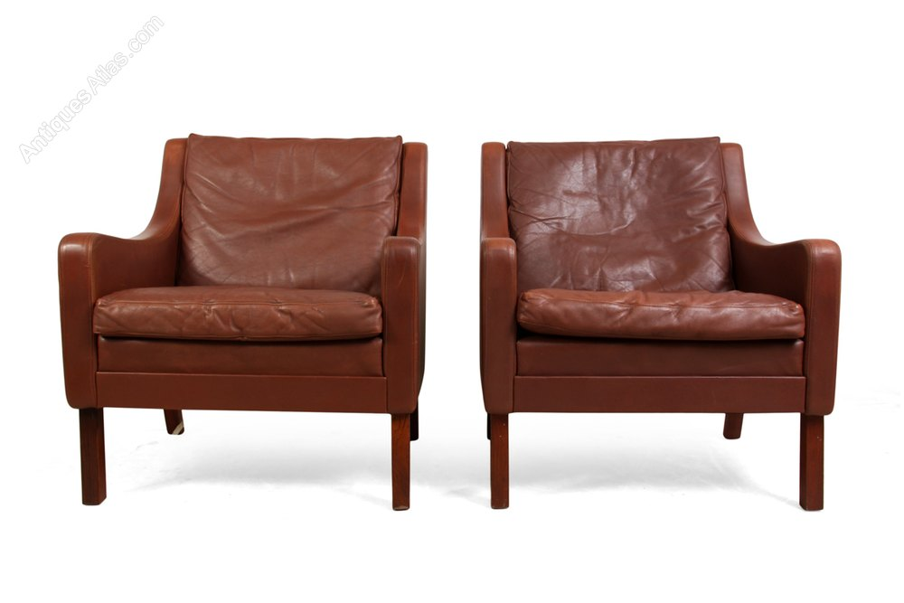 revolving chair thames tempurpedic desk antiques atlas pair of danish leather chairs by 1960s armchairs occasional