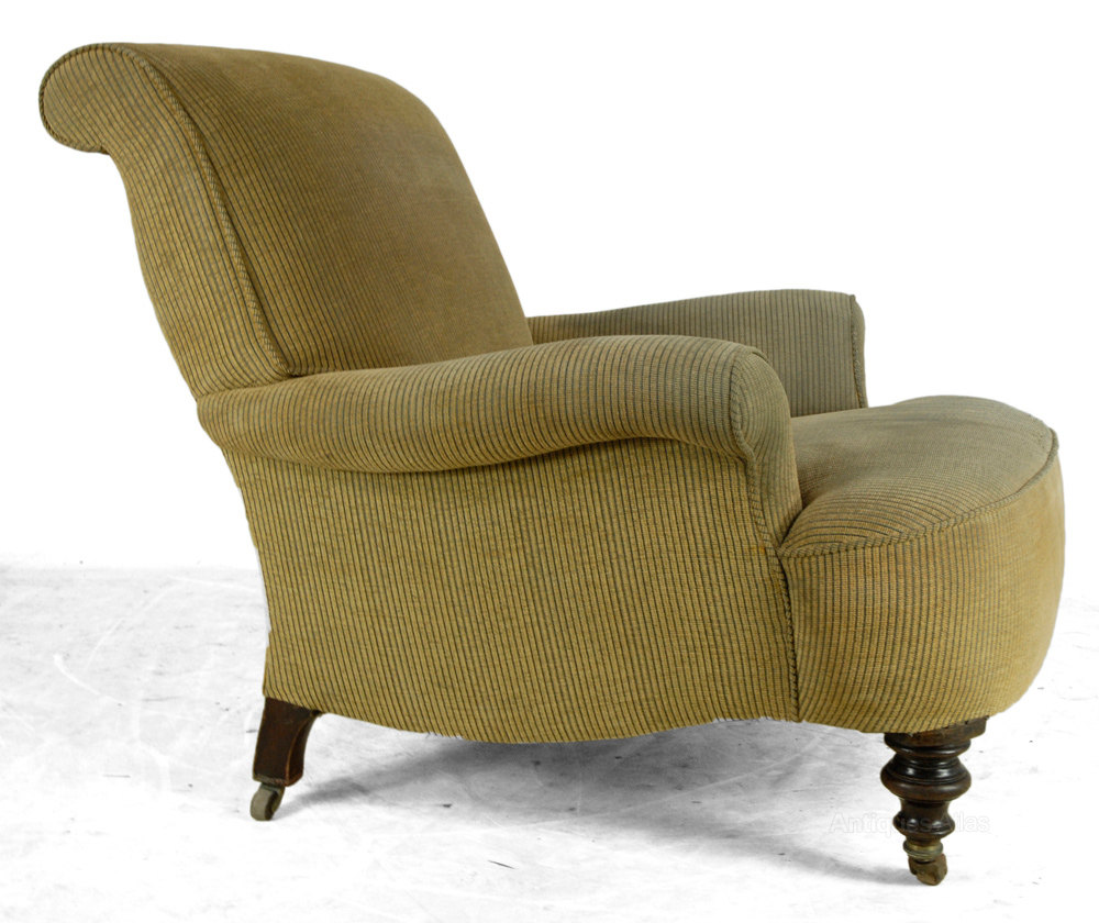 Victorian Antique Upholstered Armchair  Antiques Atlas