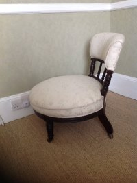 Victorian (c 1840) Mahogany Nursing Round Chair - Antiques ...