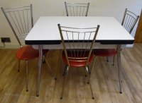Antiques Atlas - 1950's Kitchen Table And Chairs