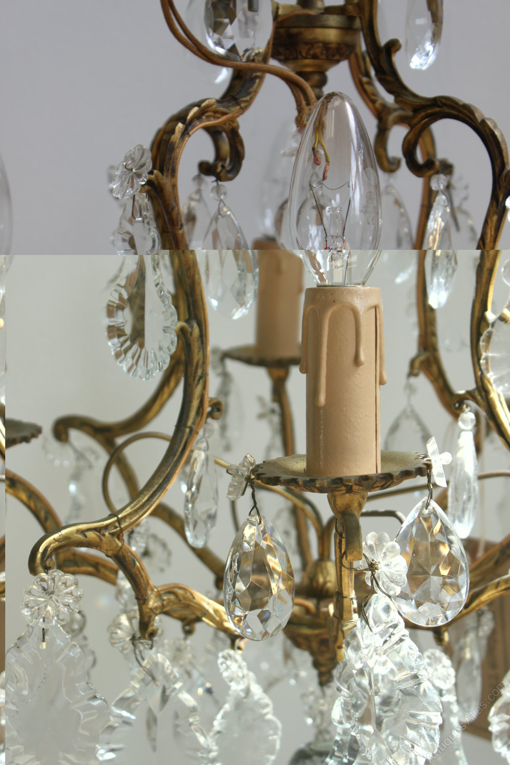 Antiques Atlas  French Brass Chandelier