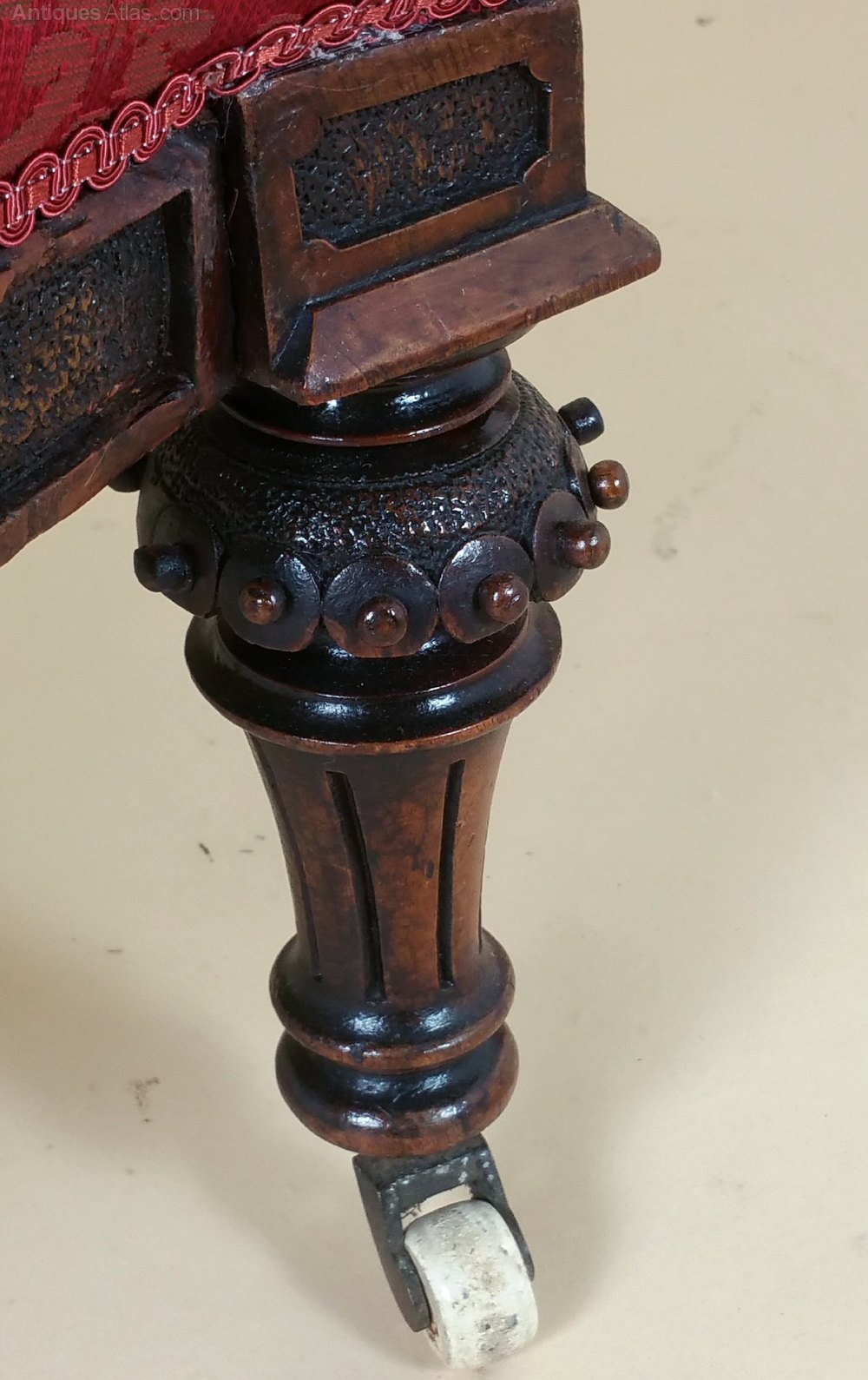 victorian occasional chair covers overall adelaide carved walnut ladies upholstered - antiques atlas