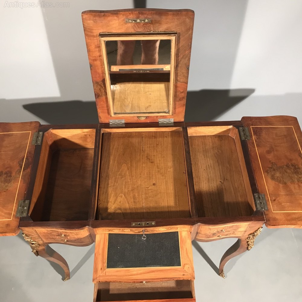 Rare French Lift Top Dressing Table In Kingwood Antiques