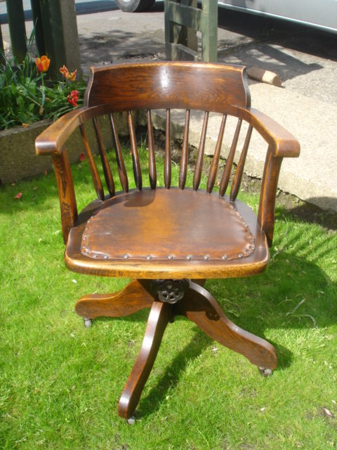 swivel chair quotes dining table chairs only antique oak desk office antiques atlas