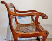 Regency Ceylonese Satinwood & Ebony Chair - Antiques Atlas