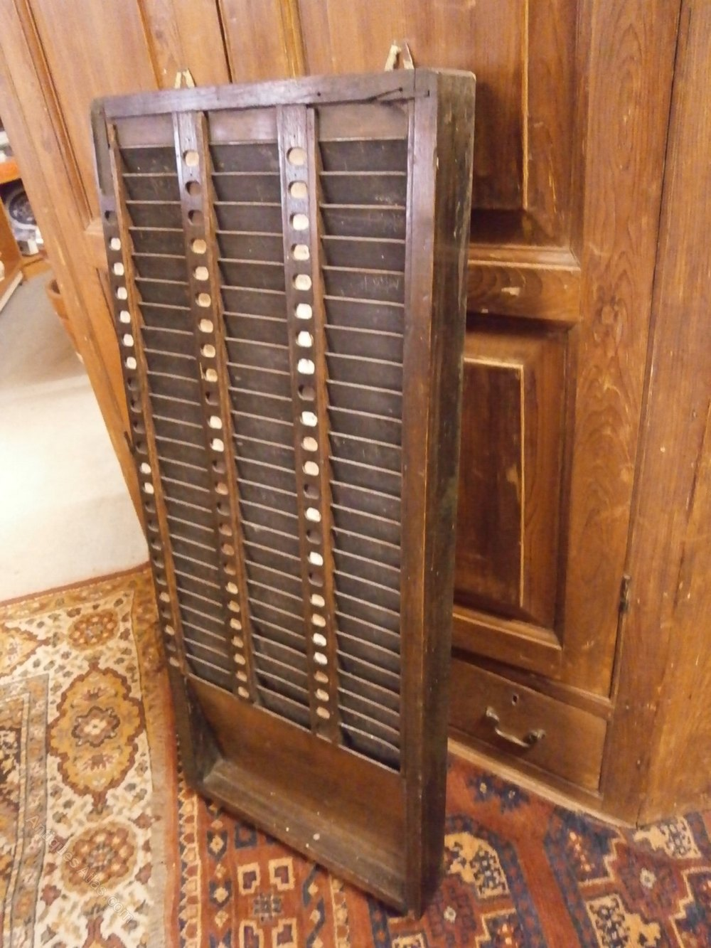 Clocking In Time Card Rack  Antiques Atlas