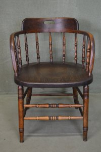 Antique Captains Chair. Antique Captain's Chair. A Rare ...
