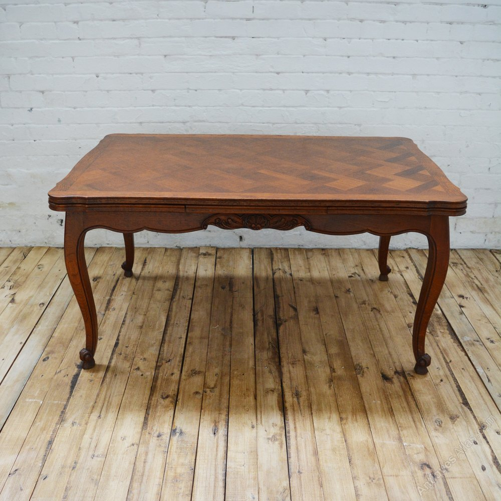 6 Seater Antique Parquetry French Oak Dining Table