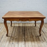 Antique French Oak Parquetry Dining Table