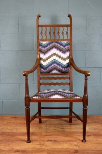 Arts And Crafts High Back Chair - Antiques Atlas