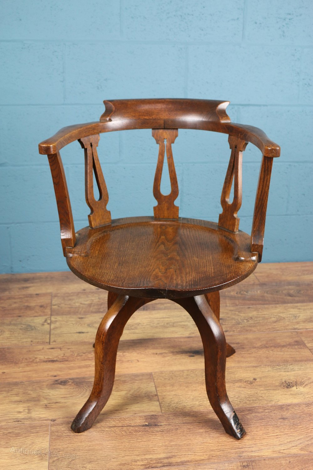 Arts And Crafts Oak Desk Chair  Antiques Atlas