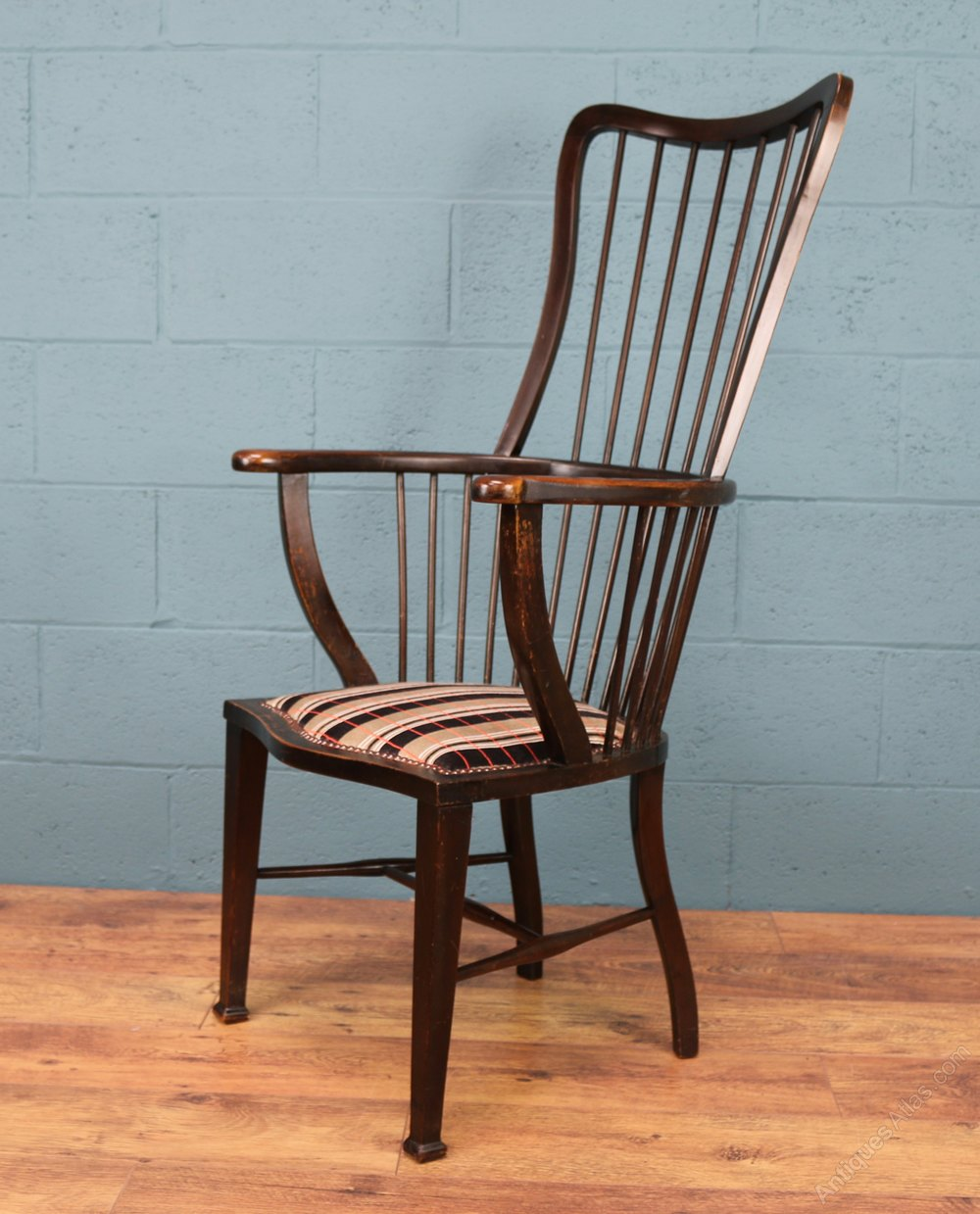 High Back Windsor Chair  Antiques Atlas