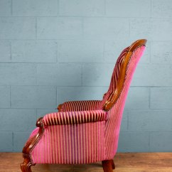 Victorian Occasional Chair Chicco High Attached Table Back Armchair - Antiques Atlas
