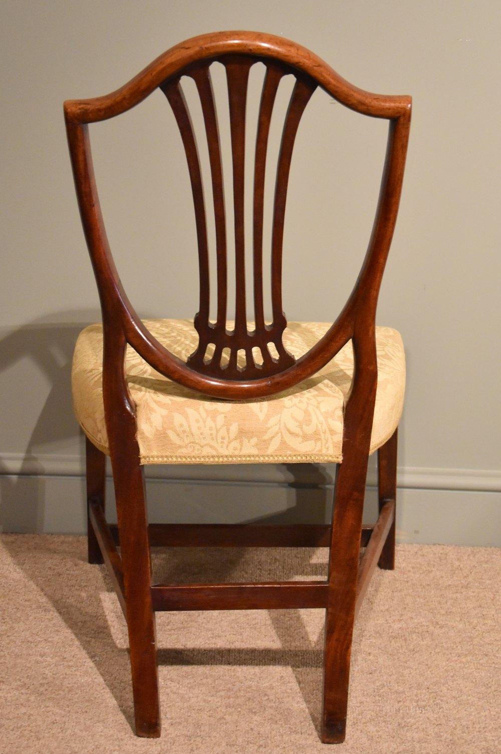 Pair Of George III Mahogany Hepplewhite Chairs  Antiques