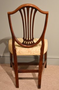 Pair Of George III Mahogany Hepplewhite Chairs - Antiques ...