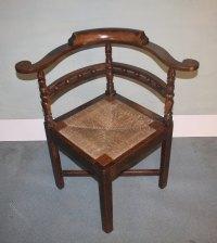 Georgian Oak Corner Chair Armchair 1800 - Antiques Atlas