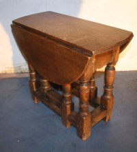 Oak Small Jacobean 1920s Drop Leaf Coffee Table - Antiques ...