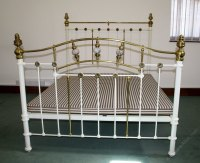 Quality King Size Brass And Iron Double Bed - Antiques Atlas