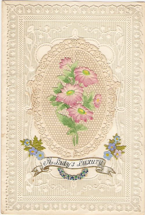 Antiques Atlas Die Cut Paper Lace Victorian Valentine Card