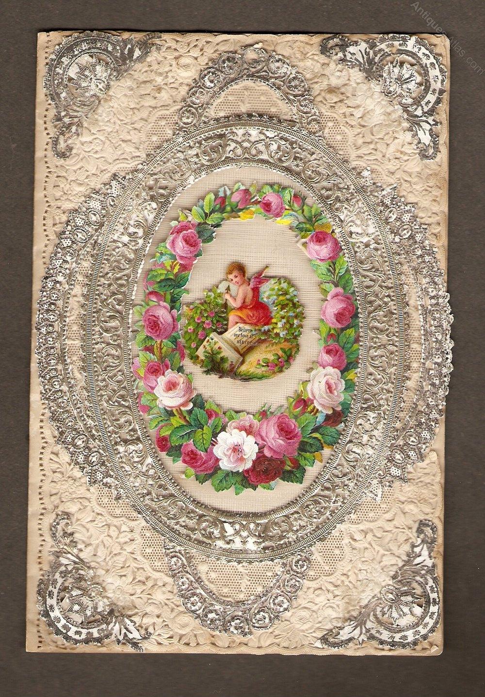 Antiques Atlas Victorian Valentine Card Circa 1870s