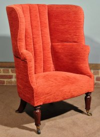 Regency Barrel Back Wing Arm Chair C. 1835 - Antiques Atlas