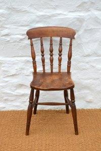 Set Of Four 19thC Elm Farmhouse Dining Chairs - Antiques Atlas