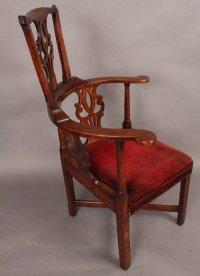Rare Georgian Corner Chair - Antiques Atlas