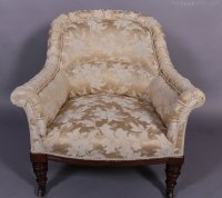 Victorian Upholstered Tub Chair - Antiques Atlas