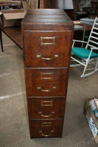 Antique Oak Filing Cabinet